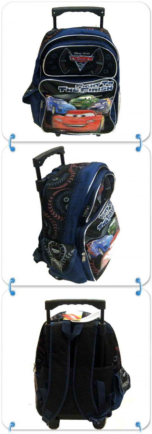 Disney Cars Rolling Backpack 18 inches