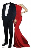 Red Carpet Couple Standin cardboard cutout standup