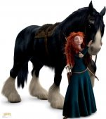 Merida and Angus, BRAVE cardboard cutout lifesize standup