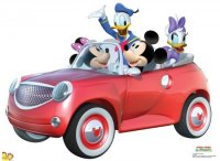 Mickey Car Ride cardboard cutout lifesize standup